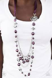 purple necklace images Paparazzi blockbuster necklace all the trimmings purple debs jpg
