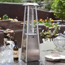 outdoor propane patio heaters glass tower stainless steel tabletop outdoor patio heater