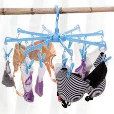 foldable plastic clothes hangers 16 clips saving space drying rack