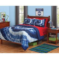 Tie Dye Bed Set Your Zone Swirl Tie Dye Comforter Set Walmart