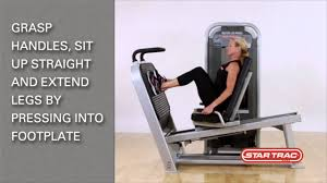 star trac impact strength seated leg press youtube