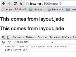 jade lang layout javascript jade template won t render with ui router dynamic param