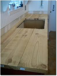 Countertops For Kitchen Furniture Luxury Butcher Block Countertops With Double Stainless