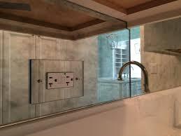 mirror backsplash in kitchen antique mirror backsplash with antique mirror electrical outlet