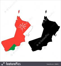 Map Of Oman Flags Oman Map Flag Stock Illustration I3608573 At Featurepics