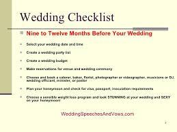 Wedding Checklist And Timeline
