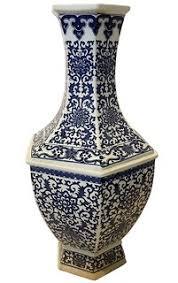Blue And White Vase Chinese Porcelain Vases Oriental Furnishings