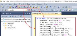 Sql Server Create Table Example Export To Sql From Azure Application Insights Microsoft Docs