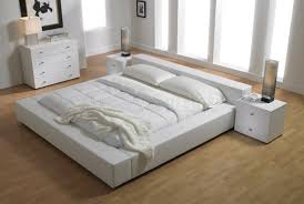 White Platform Bed Frame Upholstered Platform Bed Ideas Home Decorations Insight