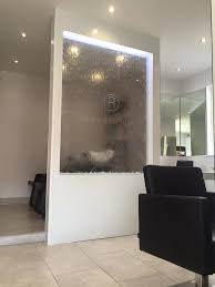 wall partition water wall partition for reece birkdale s new southport hair salon