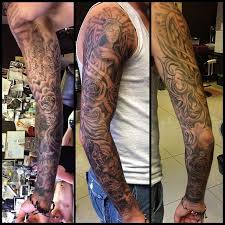 with sleeves tattoos