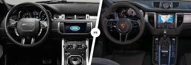 porsche suv interior 2017 range rover evoque vs porsche macan suv smash carwow