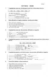 english teaching worksheets simple past