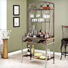 bakers wine rack wrought iron easyvbapps com elegant metal bakers rack with wine storage cabinet kitchen target au brackets
