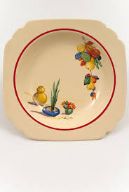 homer laughlin vintage vintage conchita decalware homer laughlin pottery plate in
