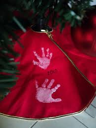 a little learning for two handprint tree skirt new traditions