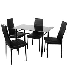 faux leather dining room chairs faux leather dining chair black high back chrome leg 4pcs lot