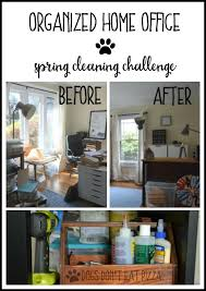 organized home office spring cleaning challenge cleaning