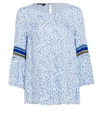 print blouse aurel blue print blouse