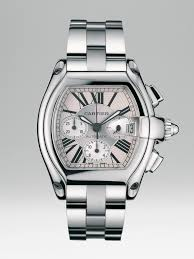 stainless steel cartier bracelet images Lyst cartier roadster chronograph stainless steel watch on jpeg