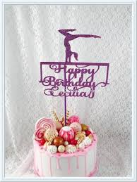 gymnastics cake toppers gymnastics party memory keepsake