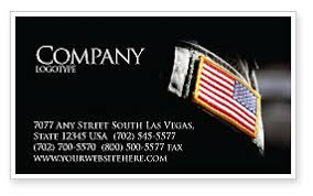 american armed forces business card template layout
