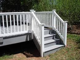 azek deck stairs and vinyl railing decks and patios pinterest