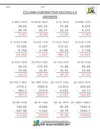 6th Grade Math Worksheets Ratios 5th Grade Math Practice Subtracing Decimals