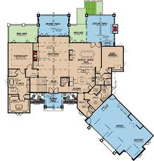 Rustic Cabin Plans Floor Plans Rustic House Plan With 4 Beds And A Bunk Room 70534mk