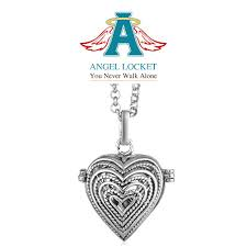 locket ornament angel lockets gracie roze