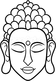 how to draw buddha easy step by step faces people free online