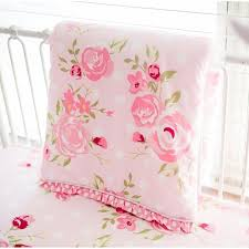 Floral Crib Bedding Sets Crib Sheet Rosebud Floral Crib Baby Bedding Set And