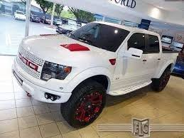 white svt ford raptor red trim offroad truck repined by http