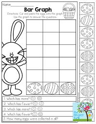 Bar Graph Worksheets 3rd Grade April No Prep Packet Kindergarten Bar Graphs Easter And Egg