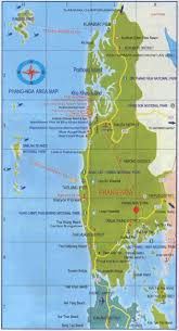 Map Of Thailand Map Of Phang Nga Province In Thailand Excellent Details Of The