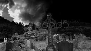graveyard cemetery halloween tomb evil scary horror ghost pumpkin