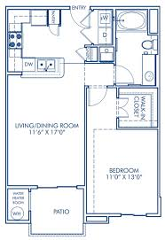 1 2 3 bedroom apartments in san marcos ca camden old creek blueprint of a1 floor plan 1 bedroom and 1 bathroom at camden old creek apartments