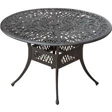 Cast Aluminum Patio Furniture Clearance by Rosedown 48 Inch Round Cast Aluminum Patio Dining Table By