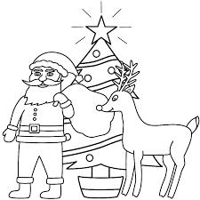 santa claus christmas tree coloring coloring