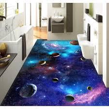 3d bathroom flooring 3d pvc flooring custom wall sticker star galaxy 3d universe 3d