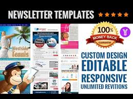 creative mailchimp editable newsletter templates design youtube