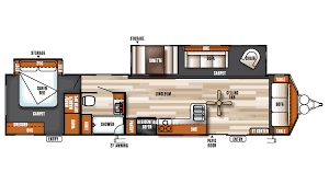 Rear Kitchen Rv Floor Plans by 2017 Forest River Salem Villa Classic 39fden Model