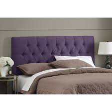 Purple Tufted Headboard by Amazing Purple King Size Headboard 75 In Leather Upholstered