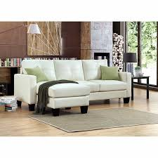 Bonded Leather Sofa Carrera Ivory Bonded Leather Sofa With Reversible Chaise Sus