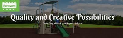 Weston Backyard Discovery Amazon Com Backyard Discovery Castle Grey Metal Swing Set And
