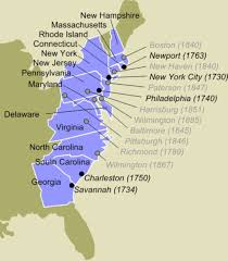 Map Of The 13 Colonies What Colonies Sent Representatives Which Didn U0027t Thinglink