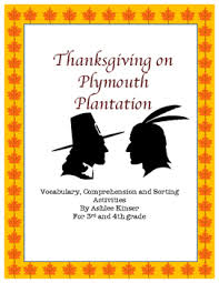 plymouth plantation book thanksgiving on plymouth plantation book study writing and more
