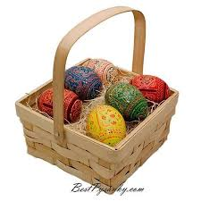 painted wooden easter eggs 6 ukrainian painted wooden easter eggs in gift basket