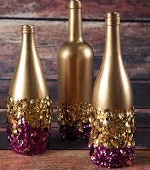 golden touch sequin bottles ideias para a casa pinterest