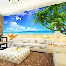 aliexpress com buy custom 3d photo wallpaper mediterranean style aliexpress com buy custom 3d photo wallpaper mediterranean style decoration mural beach sand starfish sofa tv background wall painting wallpaper from